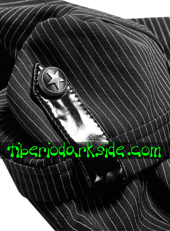 Tiberio Dark Side. CORPORATE & MILITARY GOTH - PUNK RAVE Camisa Militar Pin Up Raya Diplomatica