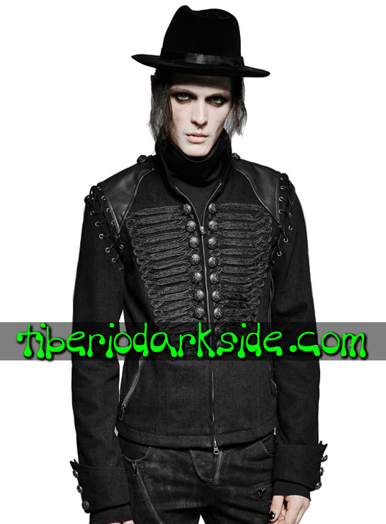 Tiberio Dark Side. CORPORATE & MILITARY GOTH - PUNK RAVE Chaqueta Neo Goth Militar