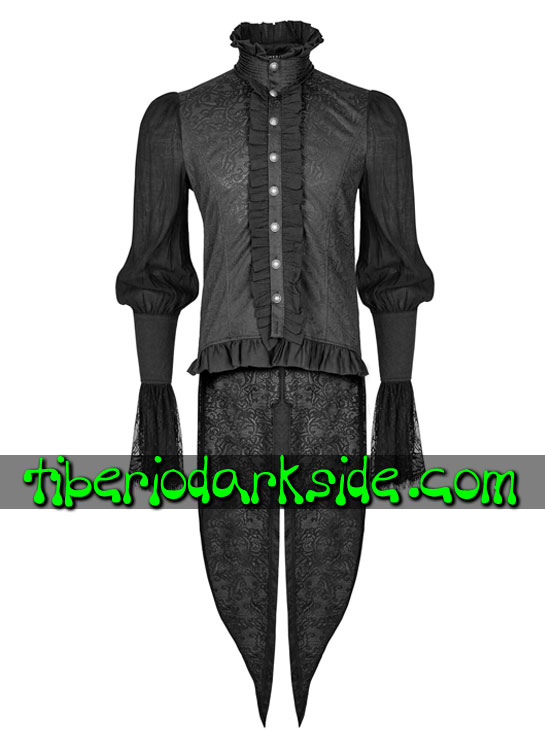 Tiberio Dark Side. Camisas - PUNK RAVE Camisa Barroca con Cola