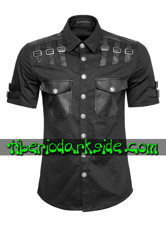 HOMBRE - Camisas PUNK RAVE Camisa Industrial Goth