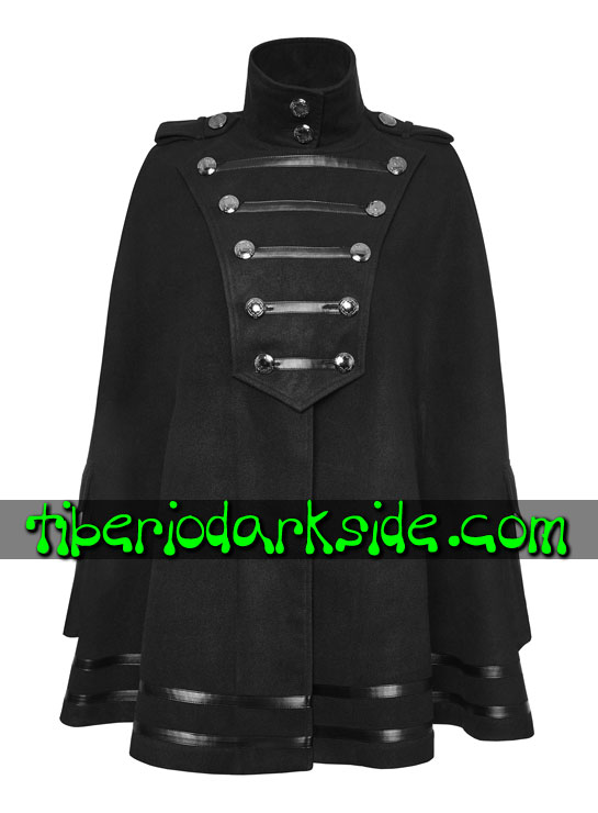 Tiberio Dark Side. MILITARY GOTH - PUNK RAVE Capa Militar Uniforme Ejercito