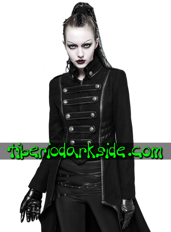 Tiberio Dark Side. Abrigos - PUNK RAVE Abrigo Militar Uniforme Cola Larga
